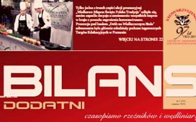 """Wywiad dla """"Bilans Dodatni"""" pisma SRiW RP"""